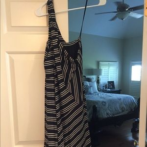 Anthropologie black/white striped dress